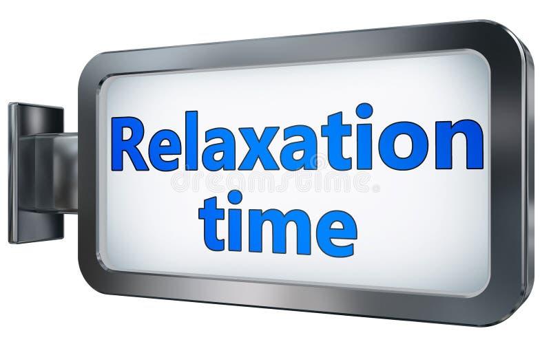 Tiempo de relajación en la cartelera stock de ilustración