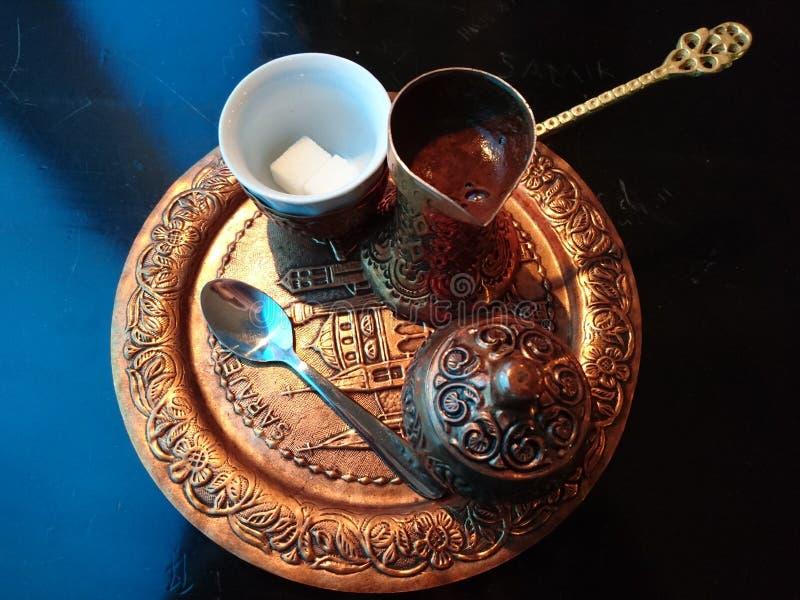 Tiempo de Sarajevo Kaffee imágenes de archivo libres de regalías