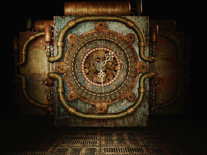 Tiempo de Steampunk stock de ilustración