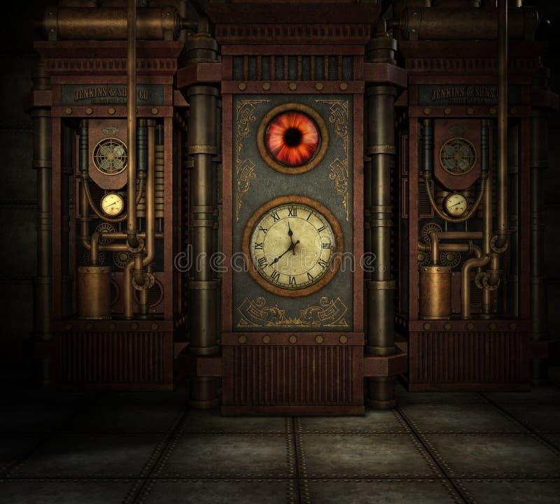 Tiempo de Steampunk ilustración del vector