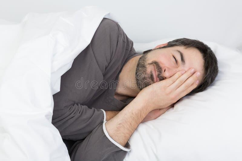Tiempo de sueño - enfermedad fotografía de archivo