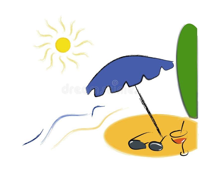 Tiempo de verano stock de ilustración
