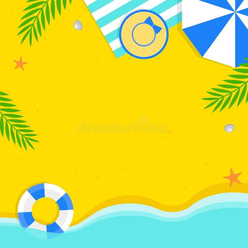 Tiempo de verano, ejemplo del vector del fondo de la playa del verano libre illustration