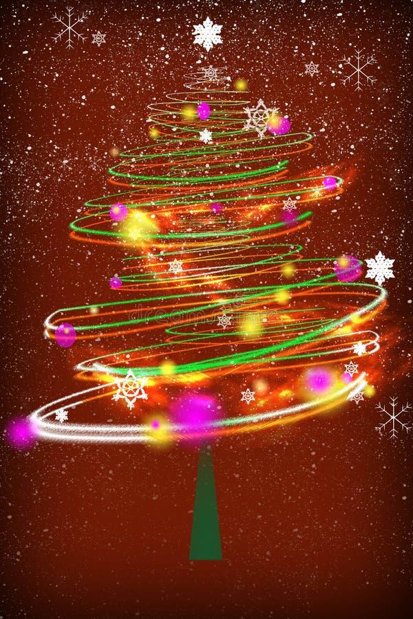 Tiempo del árbol de navidad stock de ilustración