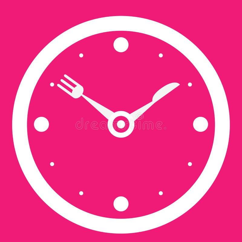Tiempo del almuerzo ilustración del vector
