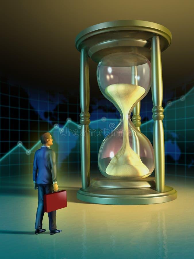 Tiempo del asunto ilustración del vector