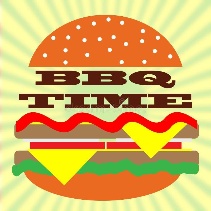 Tiempo del Bbq stock de ilustración
