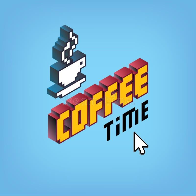 Tiempo del café deletreado libre illustration
