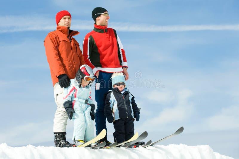 Tiempo del esquí fotos de archivo libres de regalías