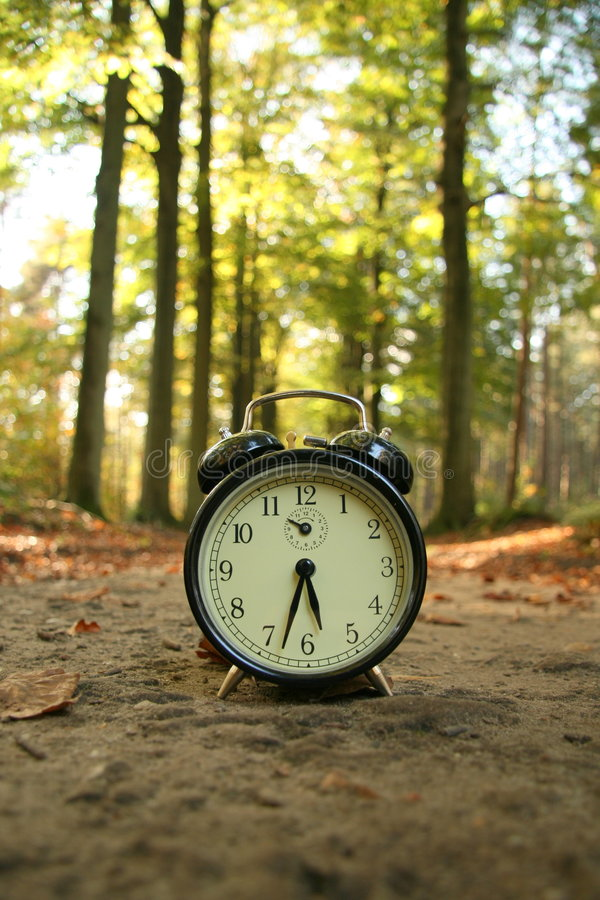 Tiempo del gasto en naturaleza imagen de archivo
