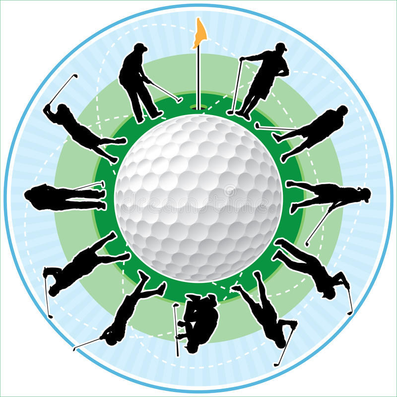 Tiempo del golf stock de ilustración