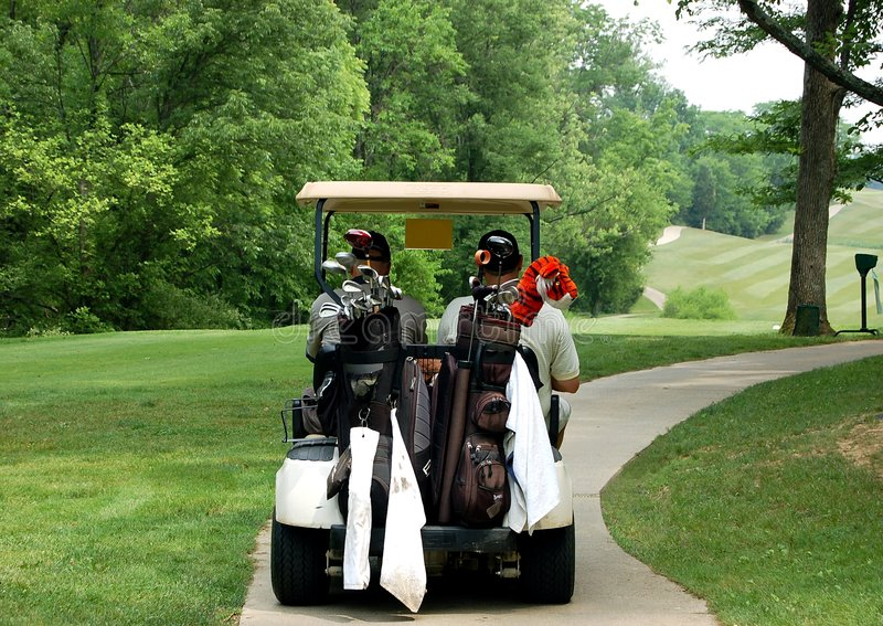 Tiempo del golf fotografía de archivo libre de regalías