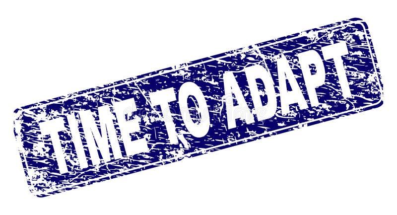 TIEMPO del Grunge PARA ADAPTAR el sello redondeado enmarcado del rectángulo libre illustration