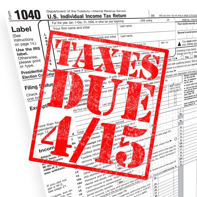 Tiempo del impuesto ilustración del vector