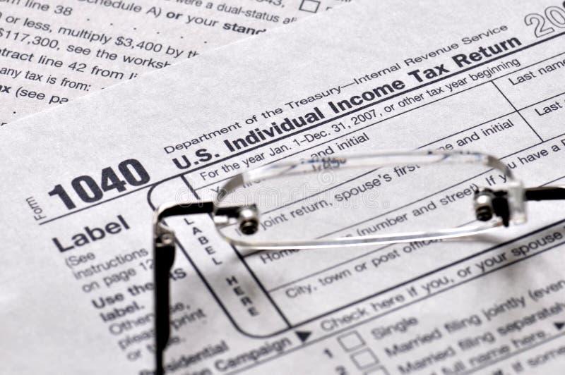 Tiempo del impuesto sobre la renta foto de archivo libre de regalías