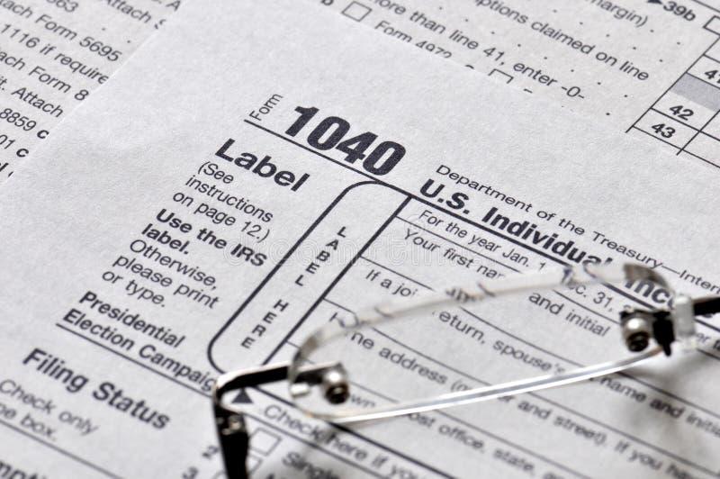 Tiempo del impuesto sobre la renta fotos de archivo libres de regalías
