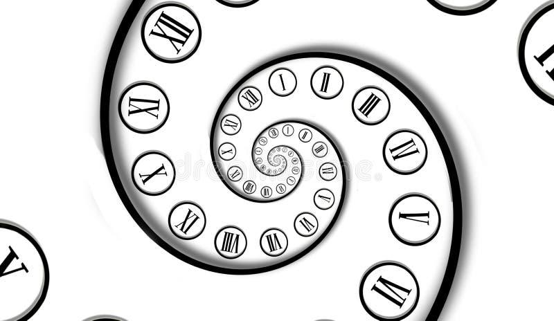Tiempo del infinito. ilustración del vector