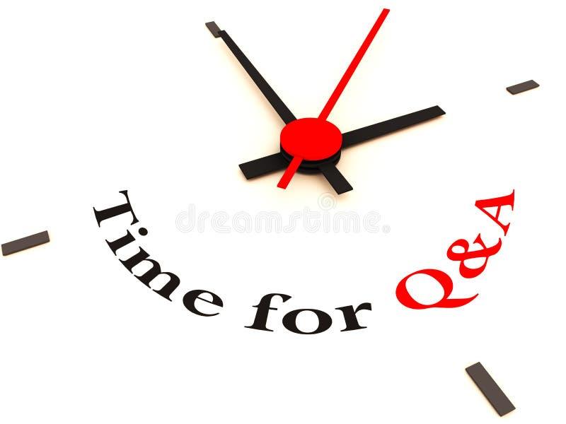 Tiempo del Q&A en el reloj stock de ilustración