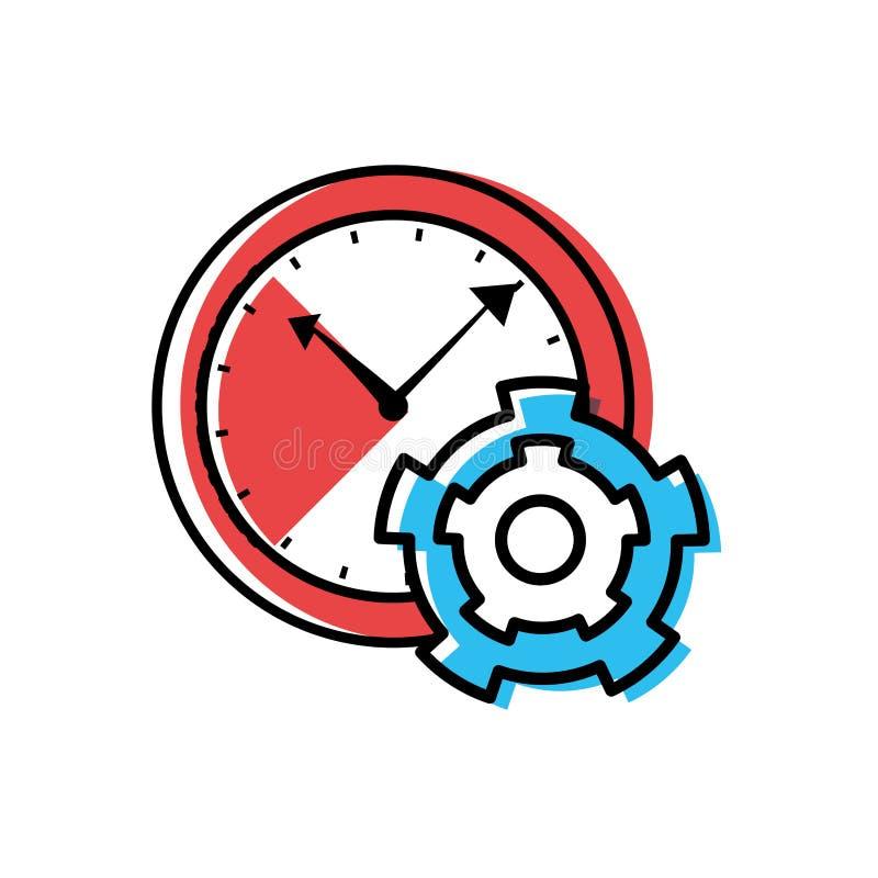 Tiempo del reloj con el piñón del engranaje libre illustration