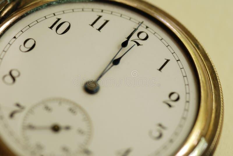 Tiempo del reloj de bolsillo imágenes de archivo libres de regalías