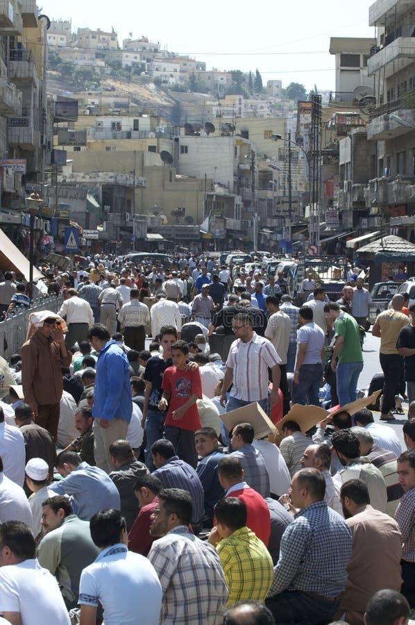 Tiempo del rezo en Amman, Jordania durante Ramadan fotos de archivo libres de regalías