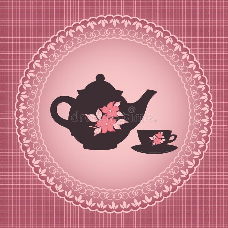 Tiempo del té ilustración del vector