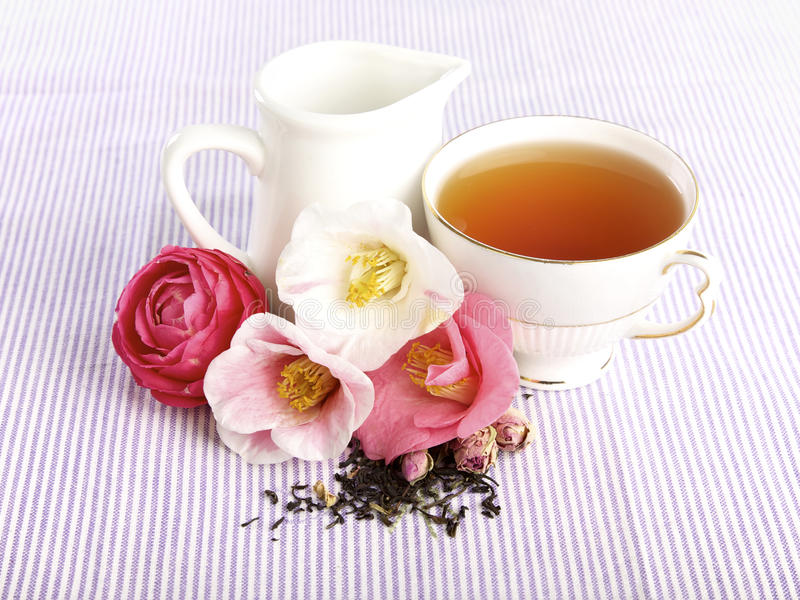 Tiempo del té, B&B foto de archivo libre de regalías
