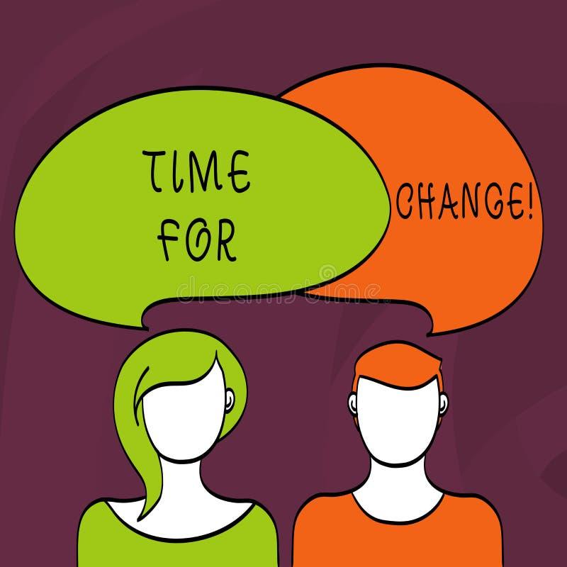 Tiempo del texto de la escritura de la palabra para el cambio El concepto del negocio para la transición crecer para mejorar tran libre illustration