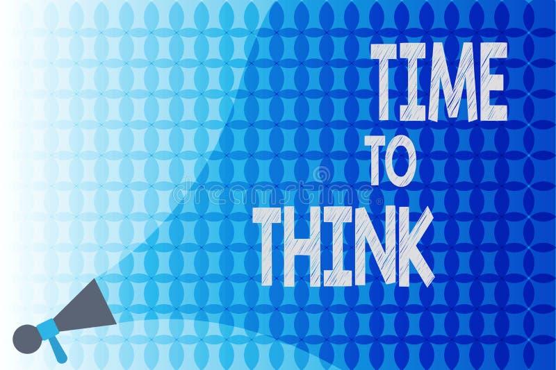 Tiempo del texto de la escritura de la palabra para pensar Concepto del negocio para Reconsider momento del tiempo de la reflexió ilustración del vector