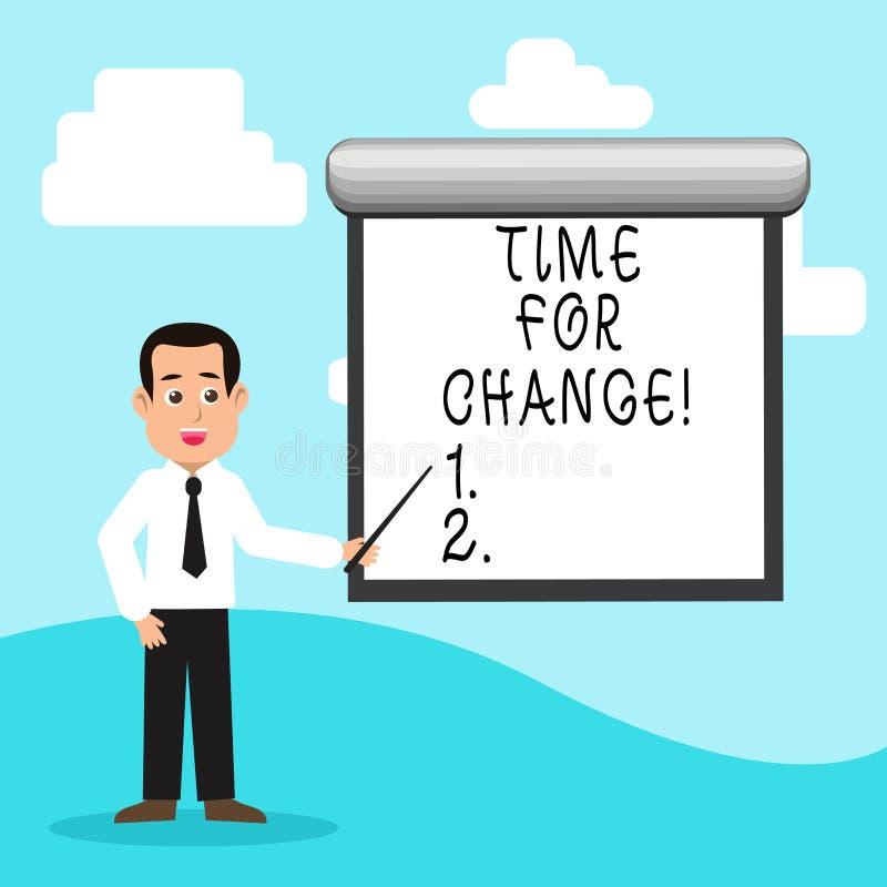 Tiempo del texto de la escritura para el cambio La transición del significado del concepto crece para mejorar transforma para con libre illustration