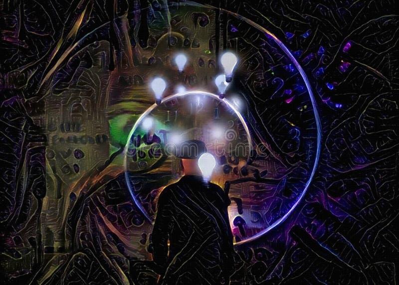 Tiempo e ideas ilustración del vector