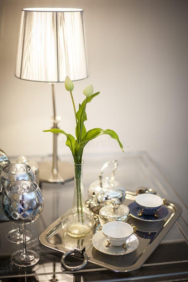 Tiempo elegante del té fotografía de archivo