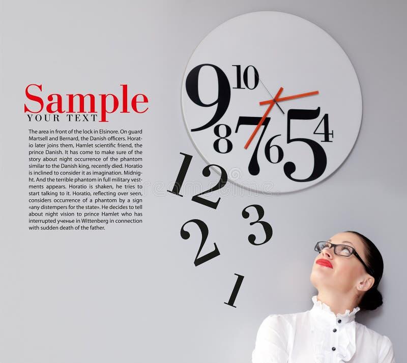 Tiempo en oficina imagen de archivo libre de regalías