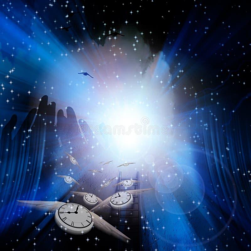 Tiempo espiritual ilustración del vector