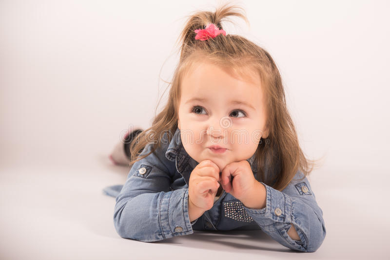 Tiempo feliz del bebé foto de archivo libre de regalías