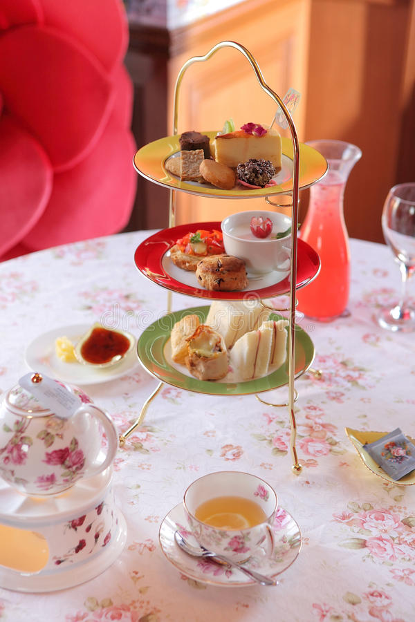 Tiempo inglés del té imagenes de archivo