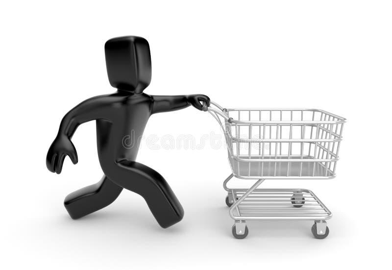 Tiempo a las compras ilustración del vector