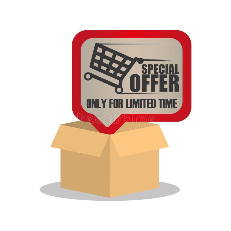 tiempo limitado en línea de la oferta especial stock de ilustración