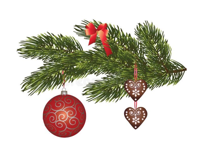 Tiempo maravilloso de la Navidad ilustración del vector