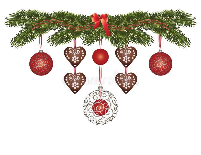 Tiempo maravilloso de la Navidad stock de ilustración