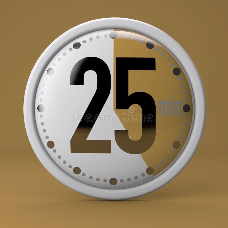 Tiempo, reloj, contador de tiempo, cronómetro ilustración del vector