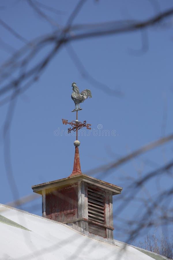 Tiempo Vane Against Blue Sky del gallo fotografía de archivo libre de regalías