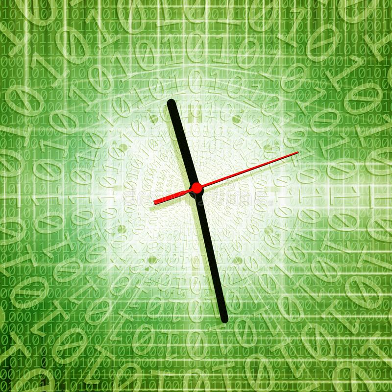 tiempo y concepto de la tecnología ilustración del vector
