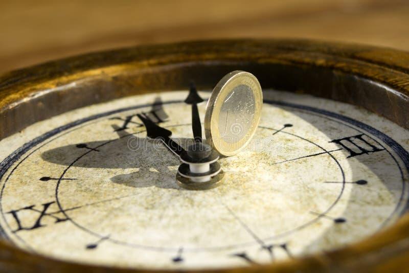 Tiempo y economía fotografía de archivo