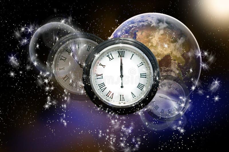 Tiempo y espacio ilustración del vector