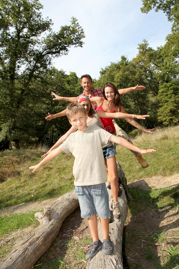 Tiempos de la diversión de la familia fotografía de archivo libre de regalías