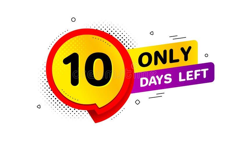Tien dagen verlaten pictogram 10 dagen om te gaan Vector vector illustratie