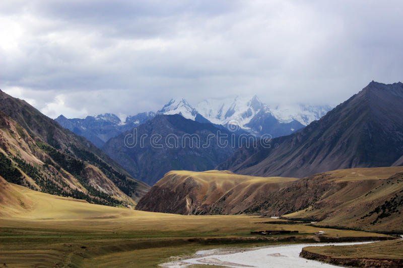 Kyrgyzstan - Central Tien Shan region. Tien Shan, is a large system of mountain ranges located in Central Asia stock photos