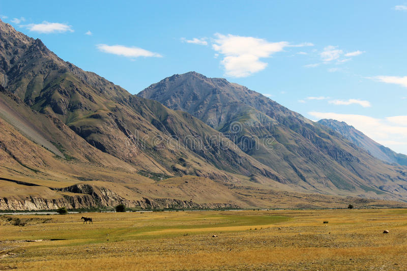 Kyrgyzstan - Central Tien Shan region. Tien Shan, is a large system of mountain ranges located in Central Asia stock photo