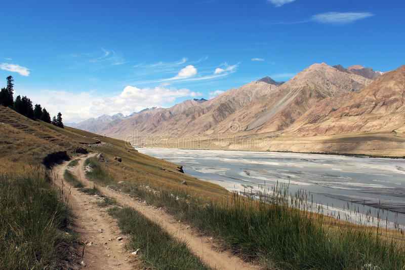 Kyrgyzstan - Central Tien Shan region. Tien Shan, is a large system of mountain ranges located in Central Asia royalty free stock photography